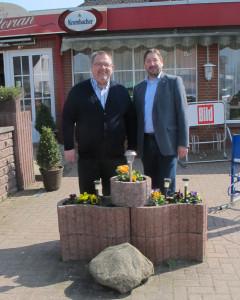 MdL Norbert Böhlke und Bürgermeisterkandidat Matthias Weigmann