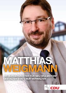 Wahlprogramm zu Bürgermeisterwahl 2014 in Neu Wulmstorf